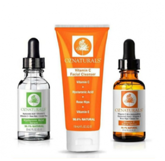 OZ Naturals Vitamin C and Hyaluronic Acid Skin Care Set special offer Care